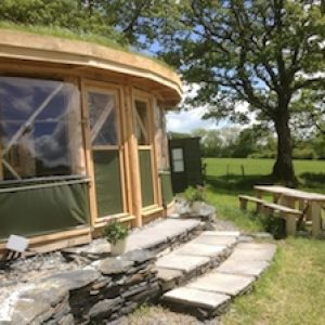 Rustic Roundhouse at Fron Farm Yurt Retreat