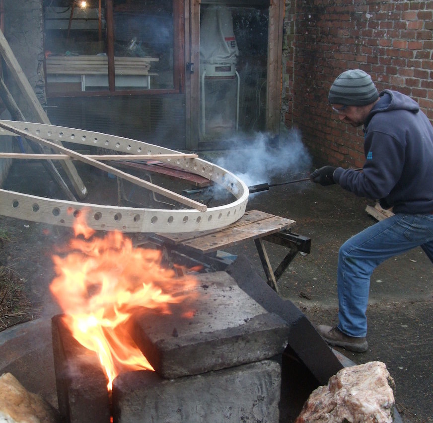 Burning a Yurt Tono at Fron Farm Yurts