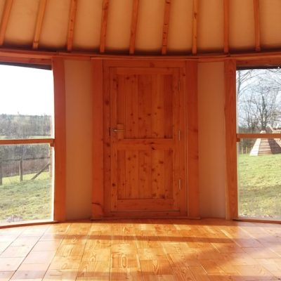 Roundhouse at Fron Farm yurts