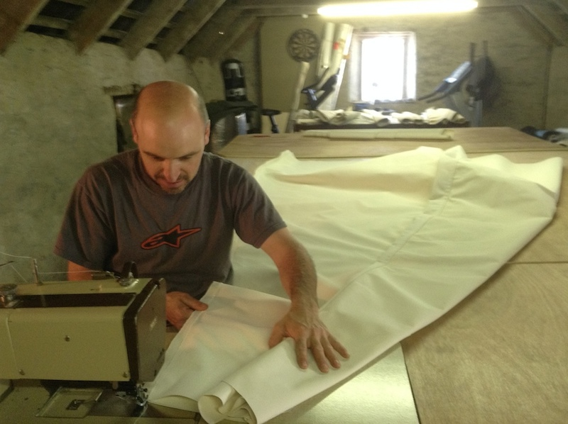 Sewing a Yurt Canvas