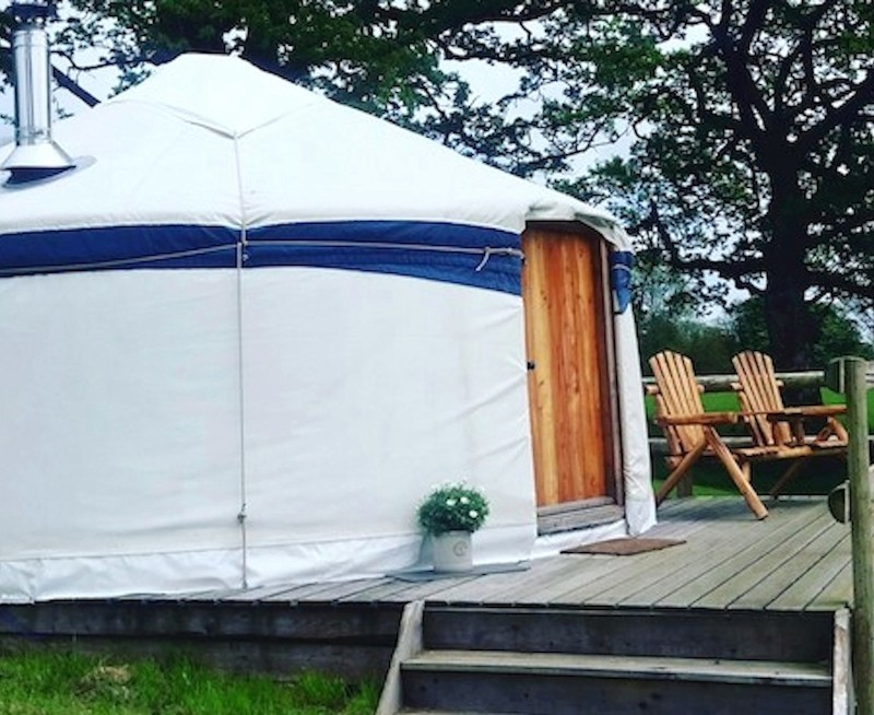 Kite Yurt at Fron Farm Yurts